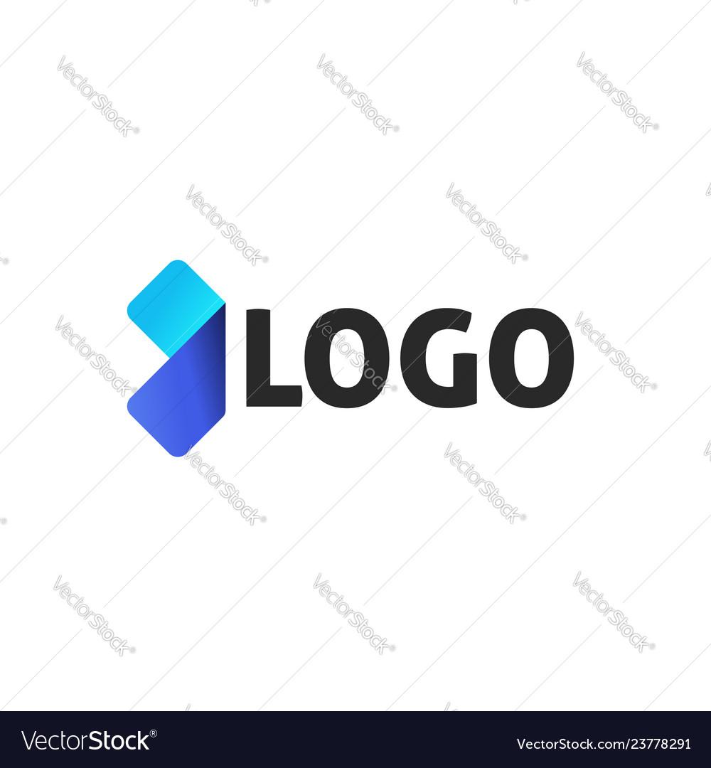 Arrow abstract logotype design logo