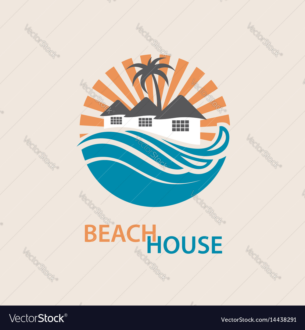 Beach House Logo Vector Image