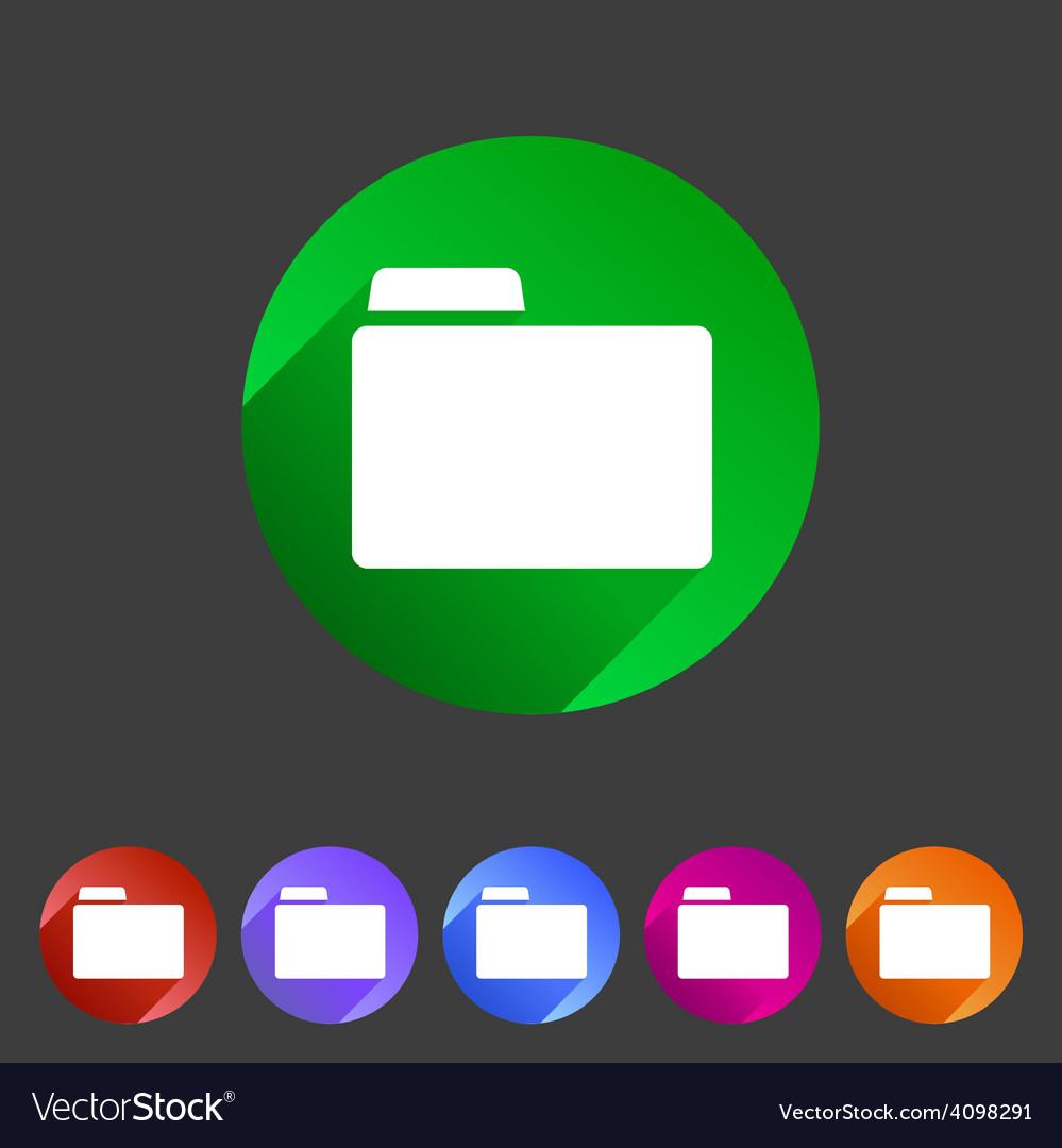 Folder attachment badge flat icon sign set symbol