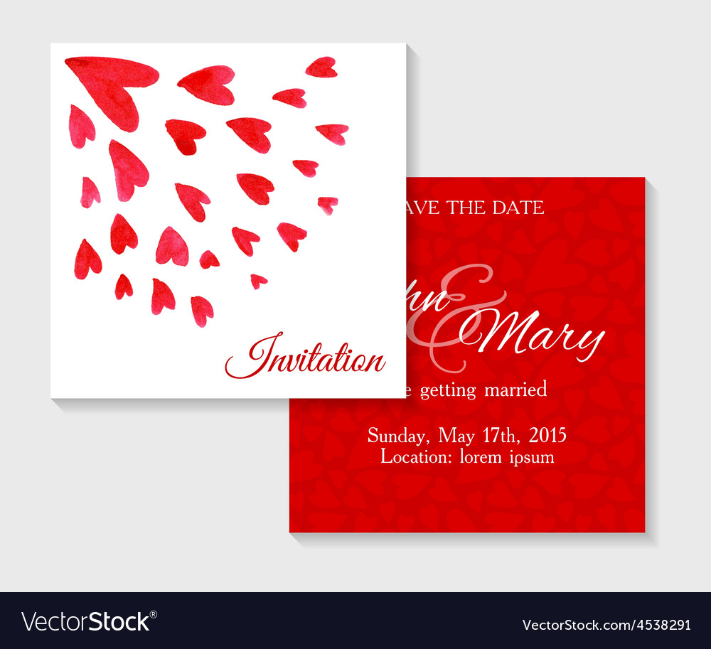 Invitation cards with watercolor elements