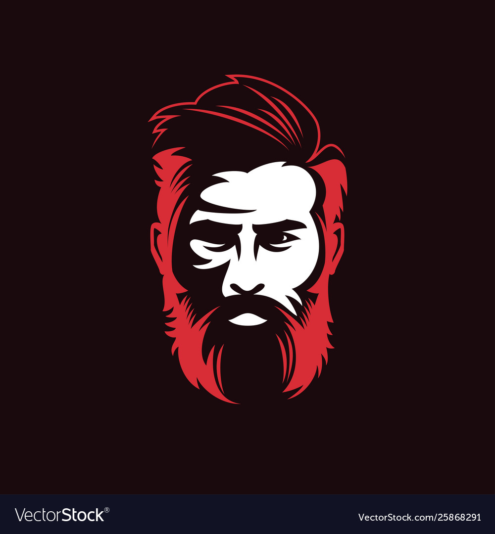 men beard logo royalty free vector image vectorstock vectorstock