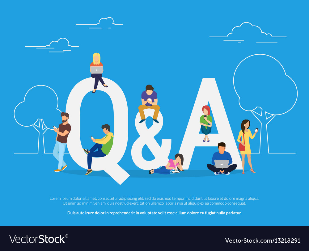 Question and answer concept of young