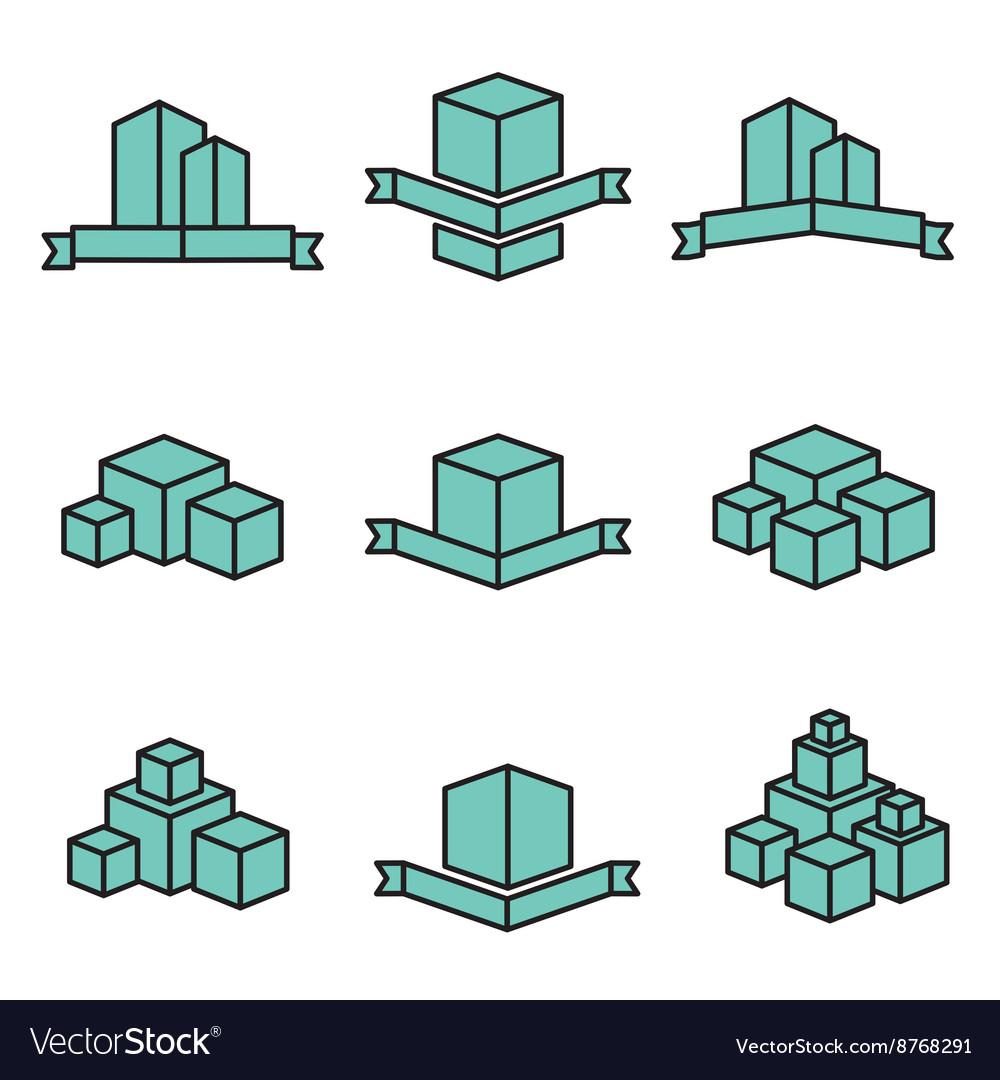 Set of real estate house logo designs