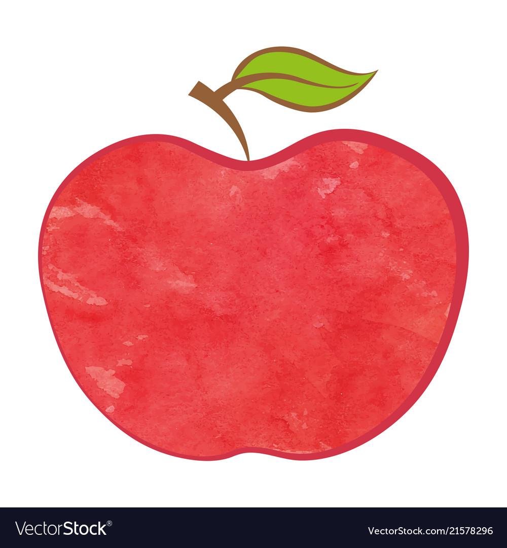 Bio apple isolated food icon