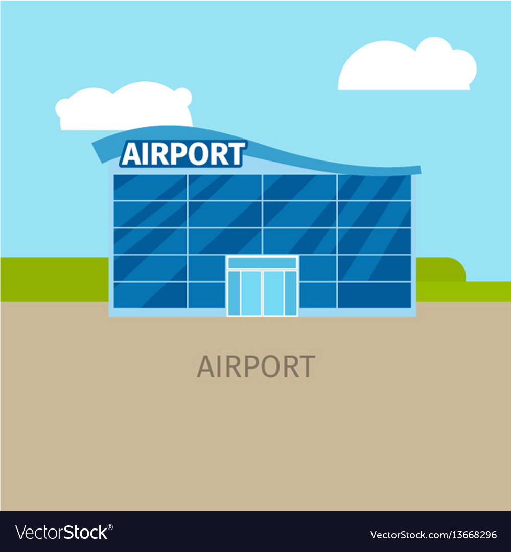 Colored airport building
