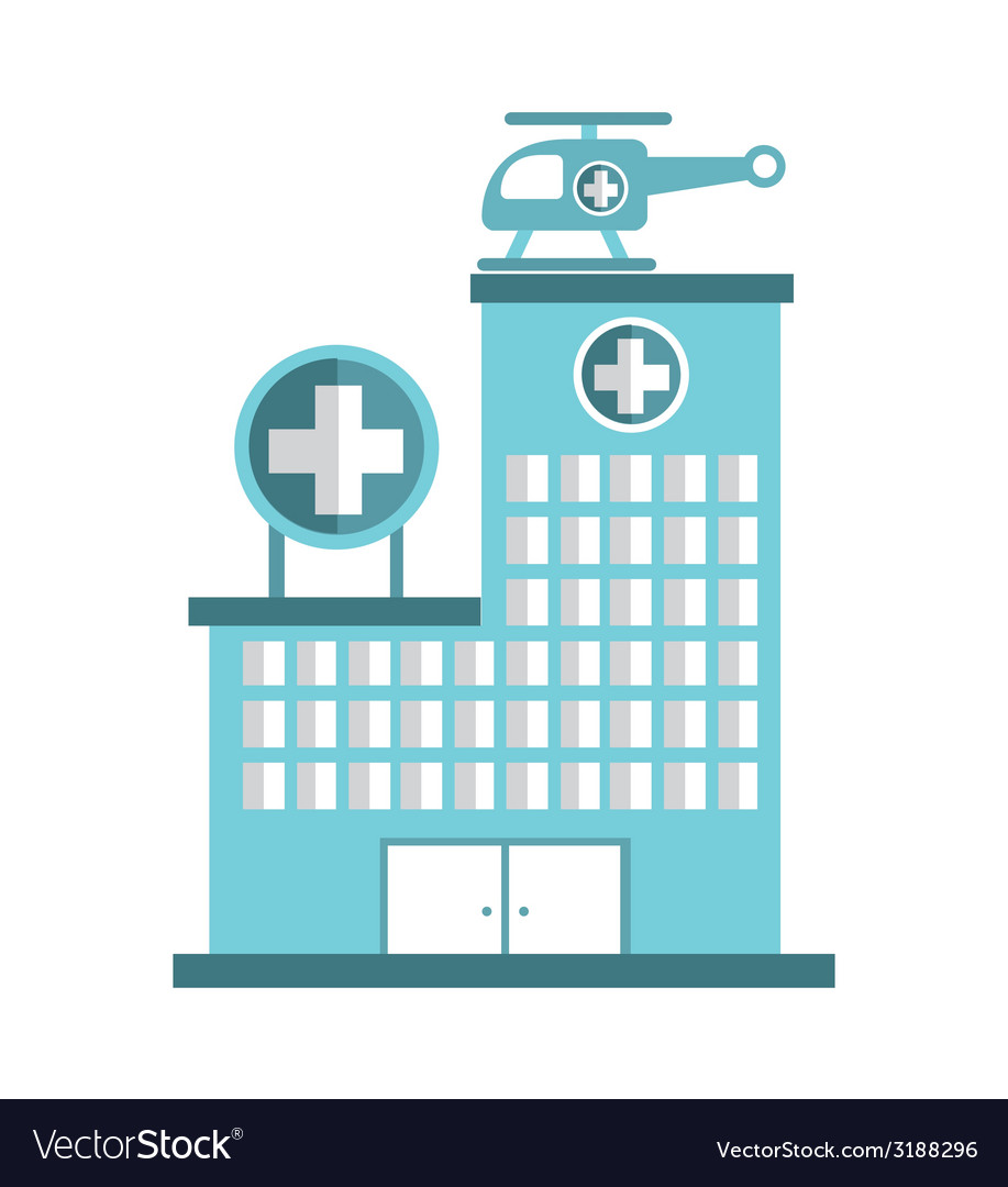Hospital design vector image