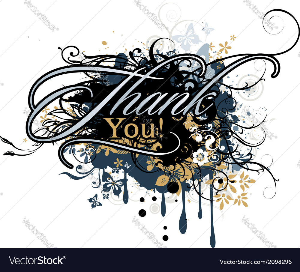 Inscription Thank you vector image