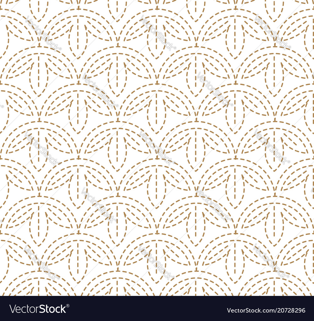 Japanese pattern sashiko is a form of decorative r