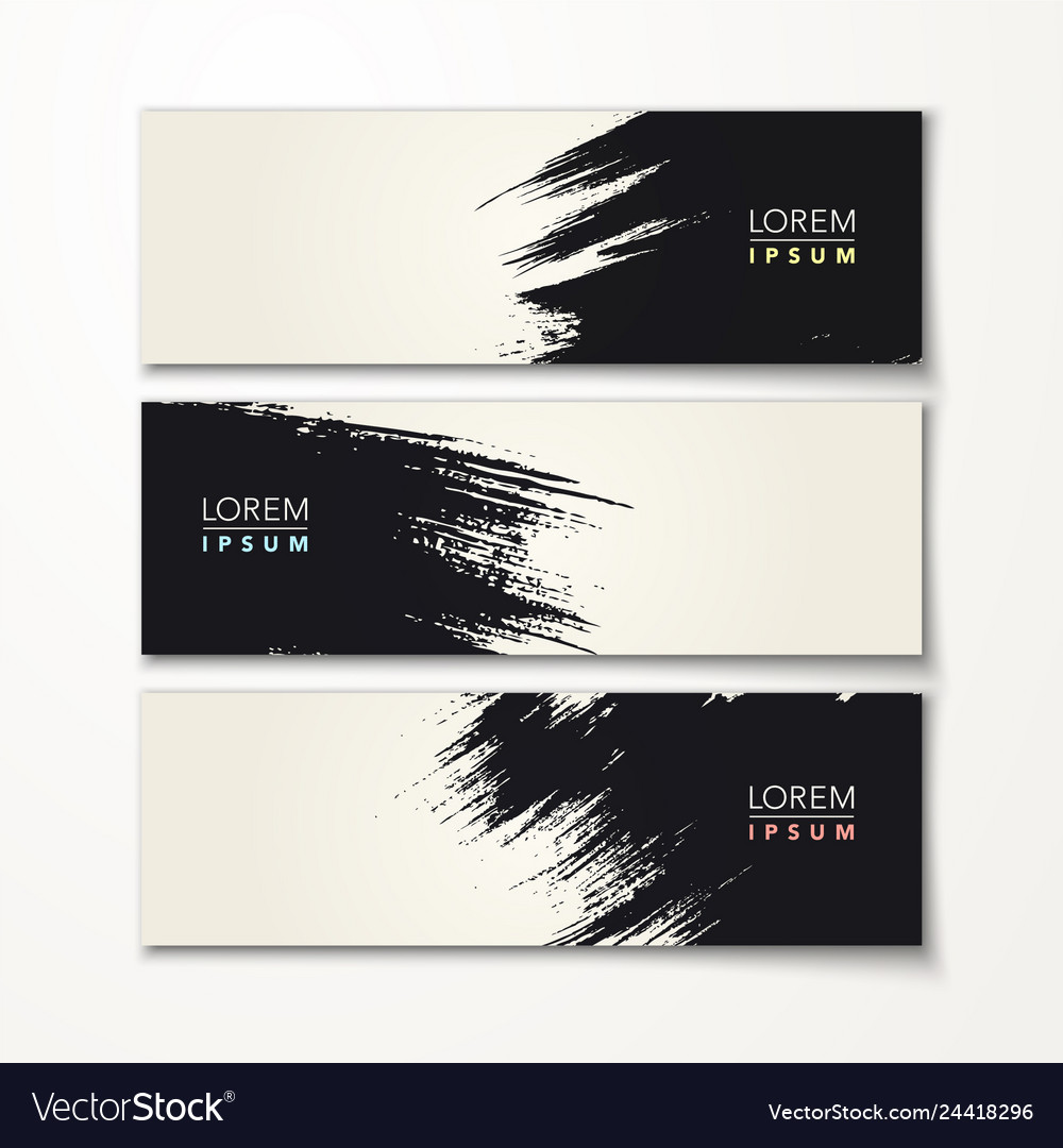 Paint brush banner calligraphy background