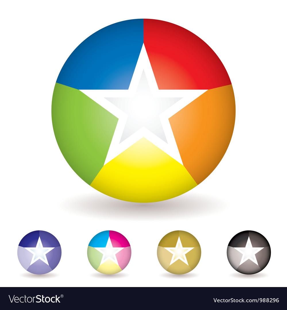 Rainbow ball icon