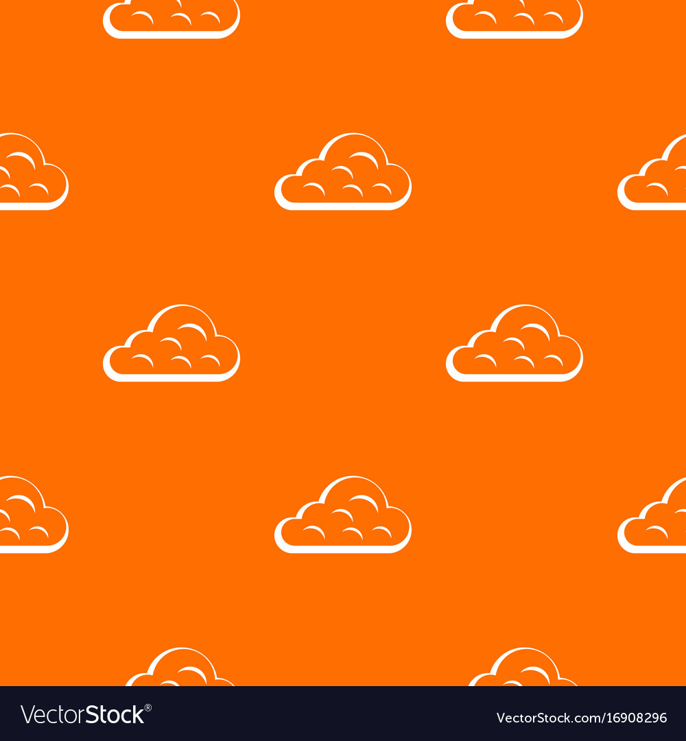 Rainy cloud pattern seamless