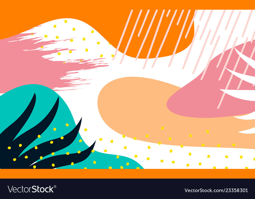 Abstract background with hand drawn textures