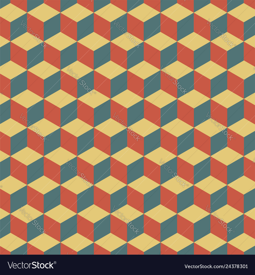 Abstract cube pattern colorful geometric pattern