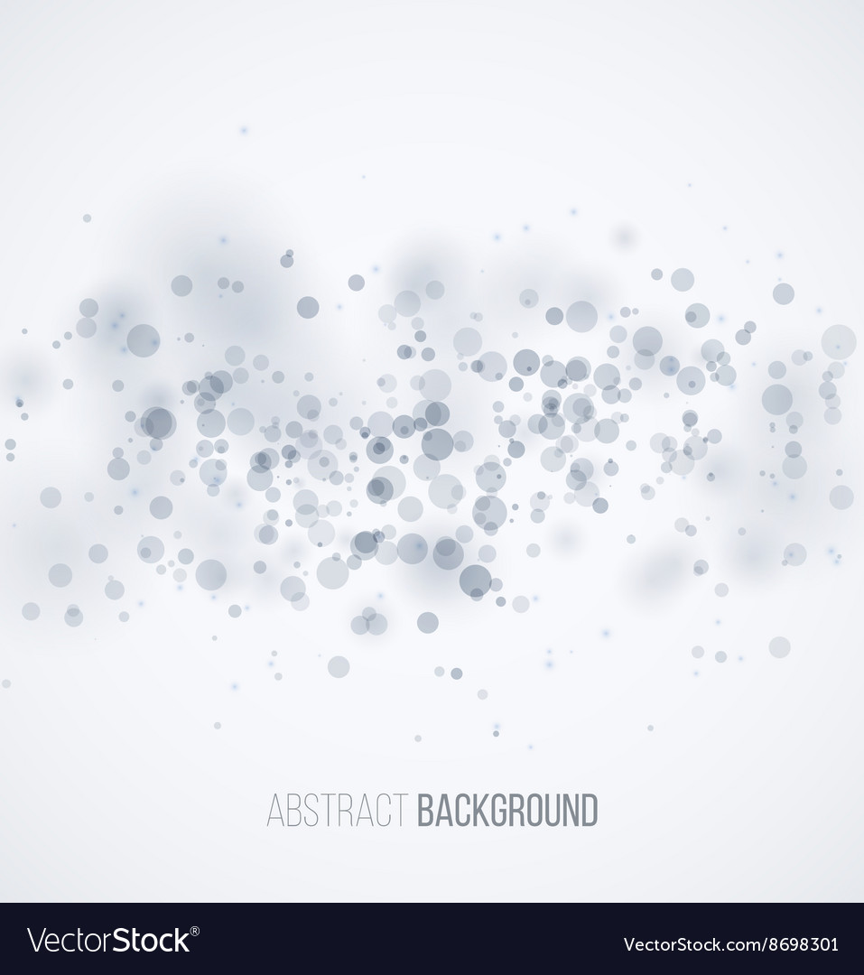 Blue circle sparkles on white blur background vector image