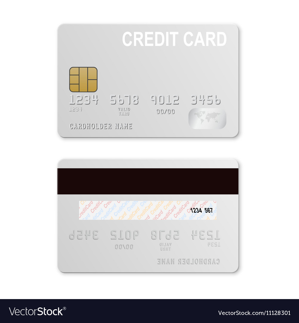 Credit Card Template Royalty Free Vector Image