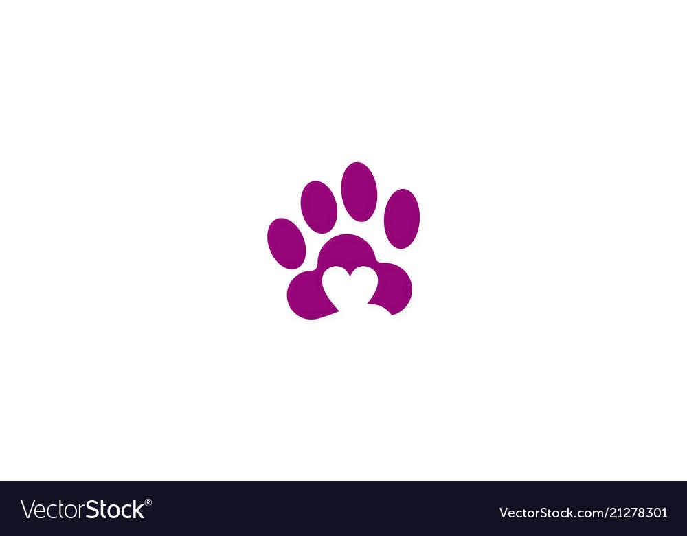 Love pet dog logo