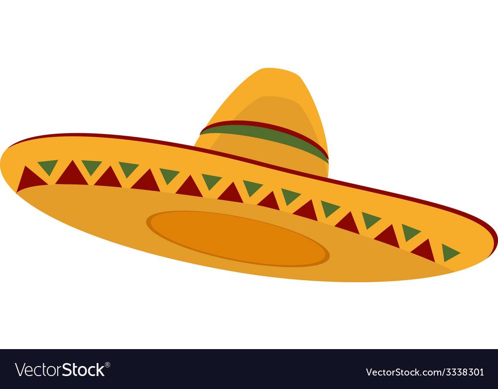 Mexican hat Royalty Free Vector Image - VectorStock c4691c5b34d