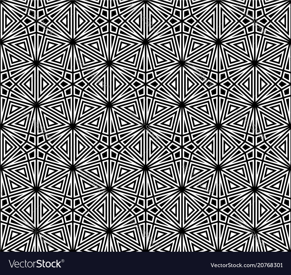 Seamless traditional japanese kumiko ornament vector image