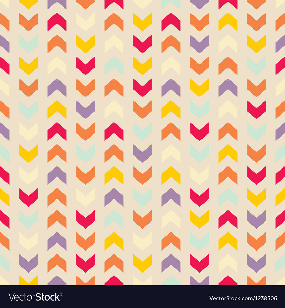 Aztec Chevron seamless colorful pattern vector image