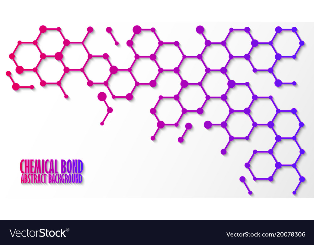 Chemical bond science concept abstract
