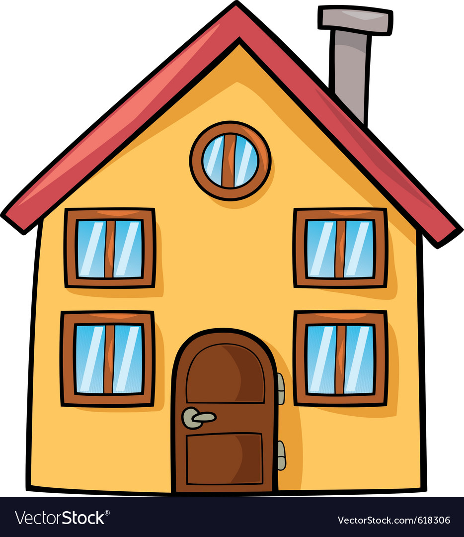 Funny House Cartoon Royalty Free Vector Image
