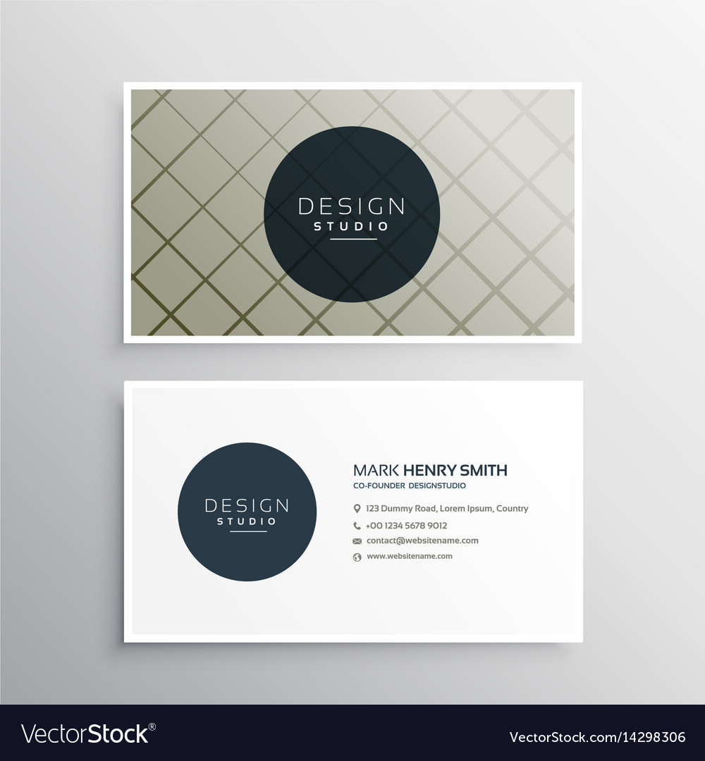 Modern elegant business card template design with vector image fbccfo