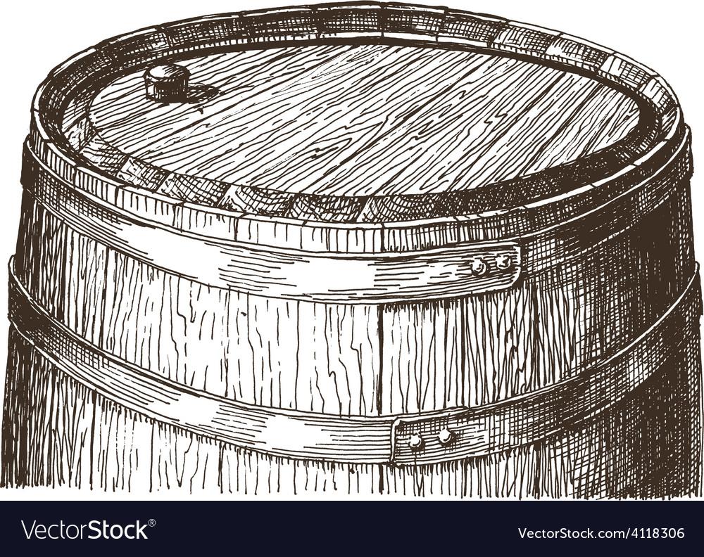 Oak barrel logo design template wine or