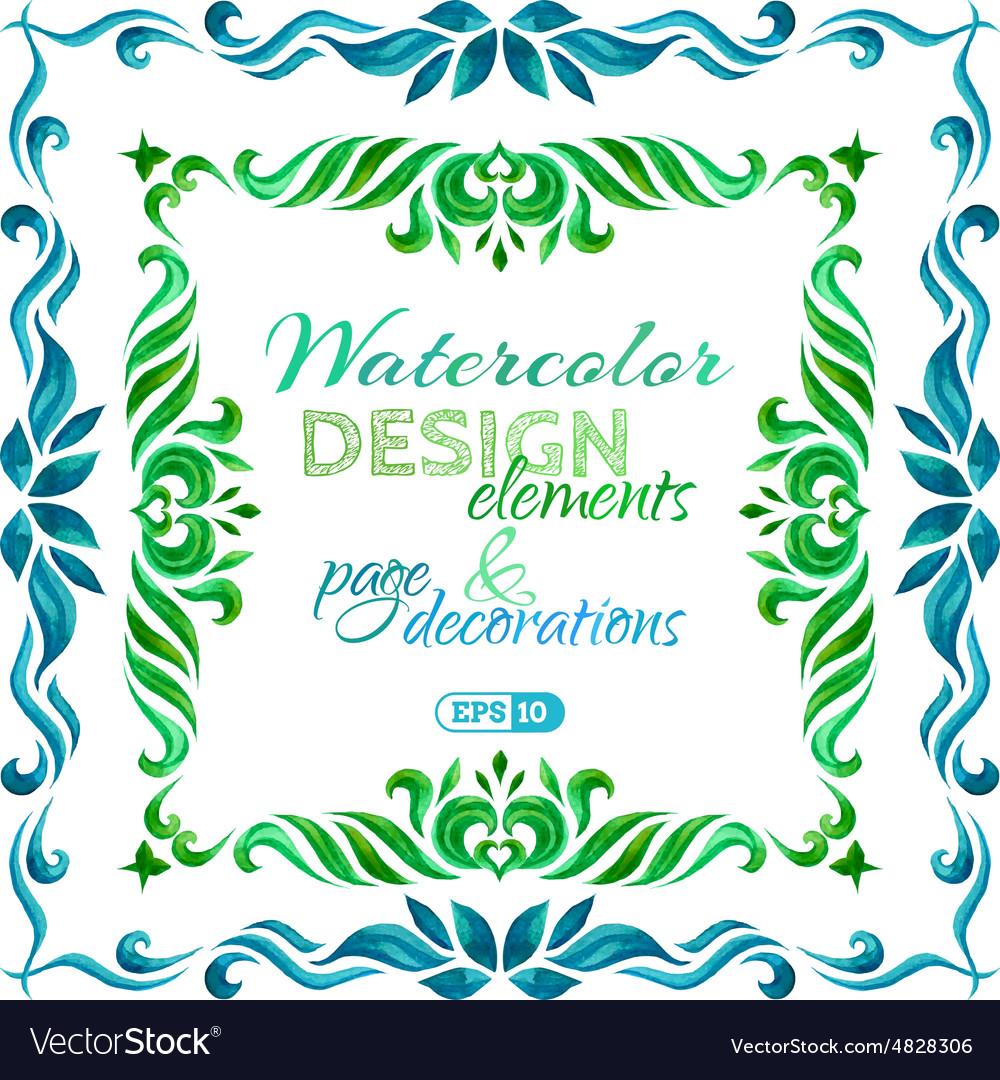 Watercolor frames Royalty Free Vector Image - VectorStock
