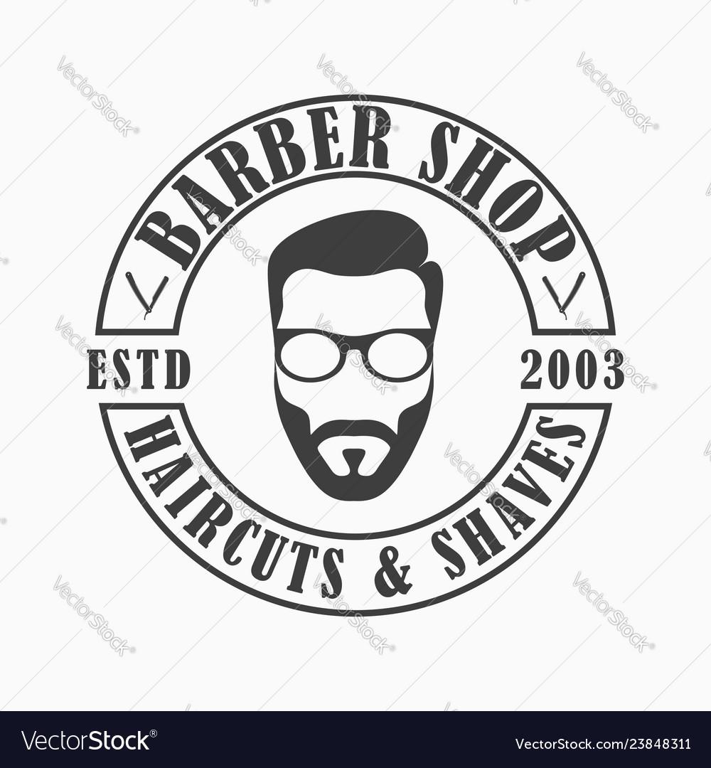 Barber shop template logo