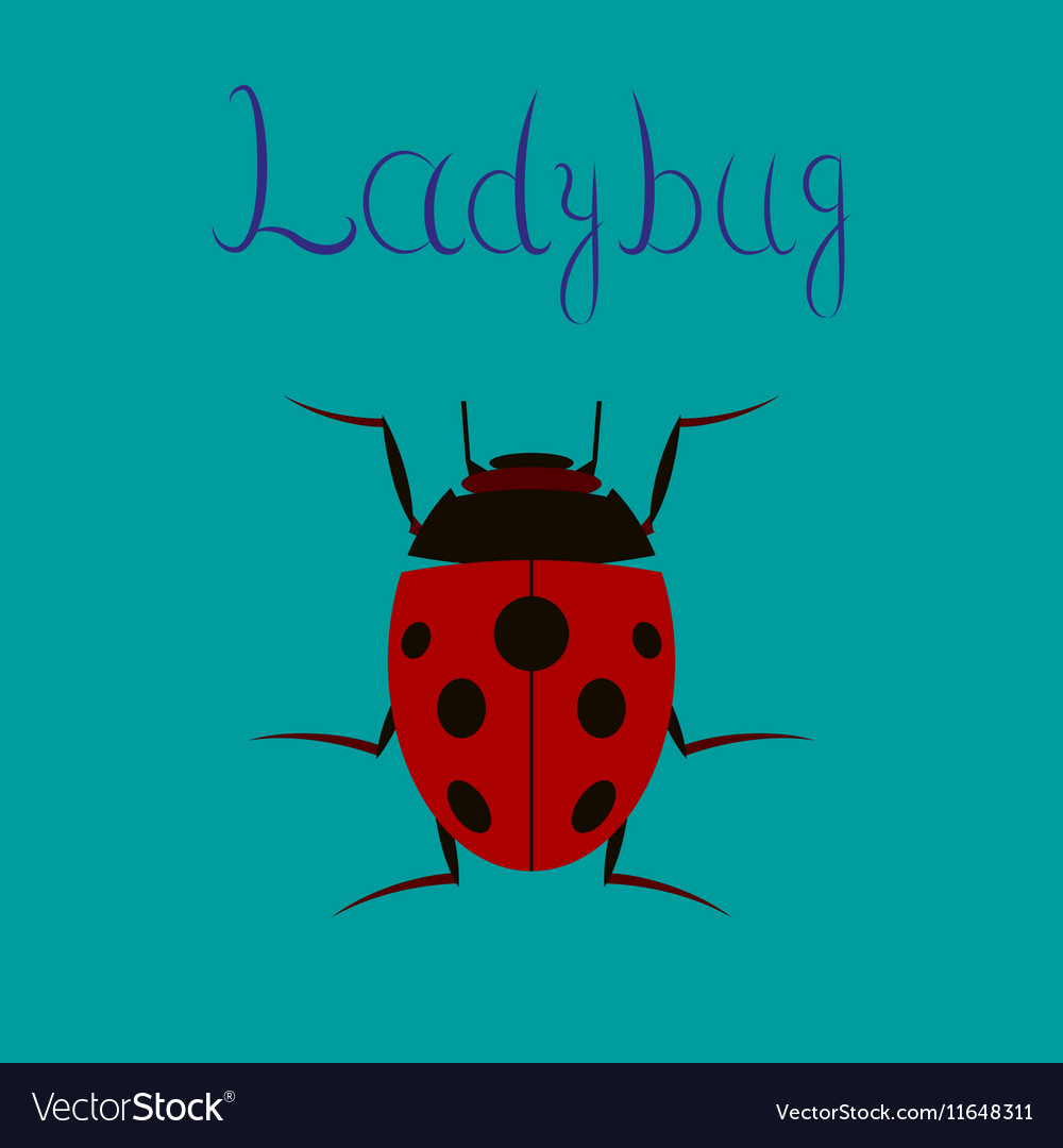 Ladybug animal logo design background