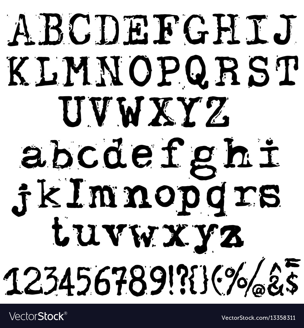 old typewriter font free