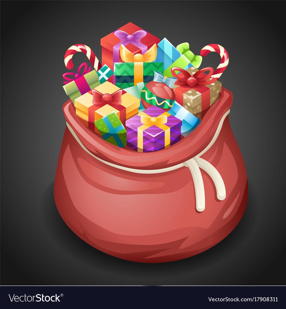 Santa gifts bag new year christmas cartoon design
