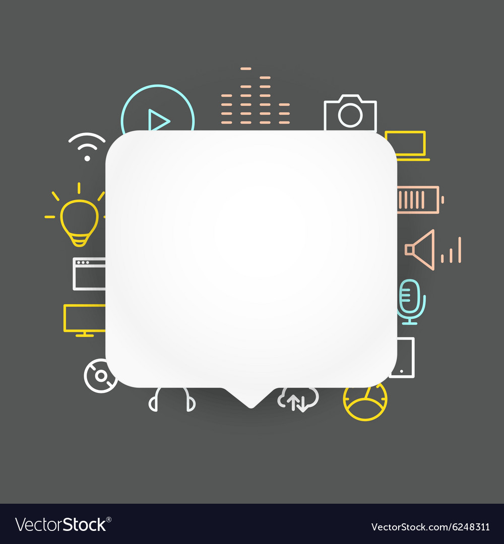 Speech cloud template with different icons