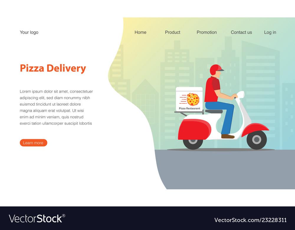 Website template design for pizza restaurant