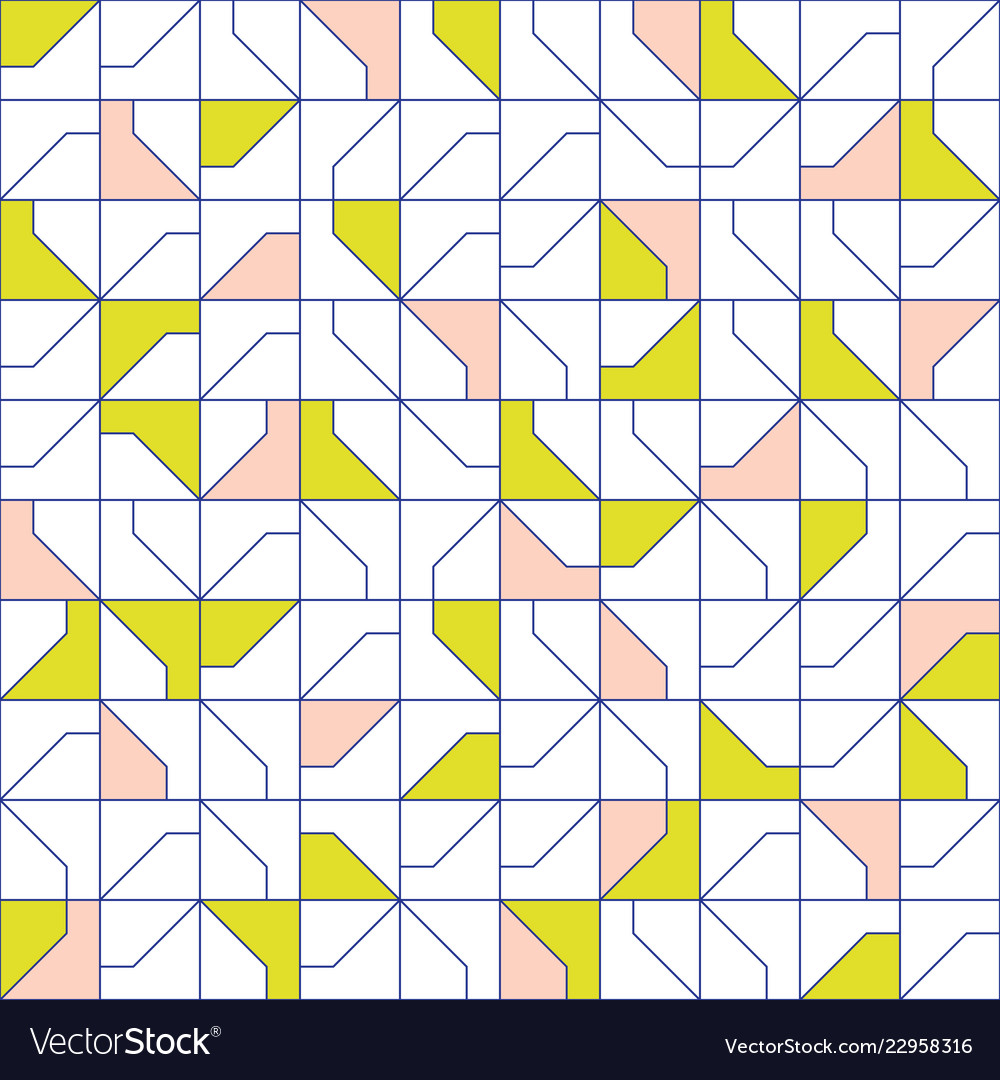 Abstract modernist style geometric tiles seamless