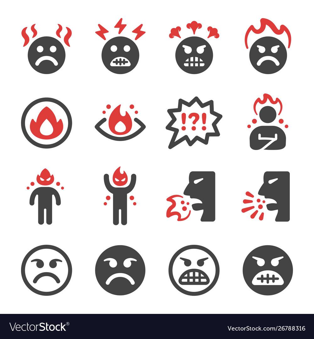 Angry icon set