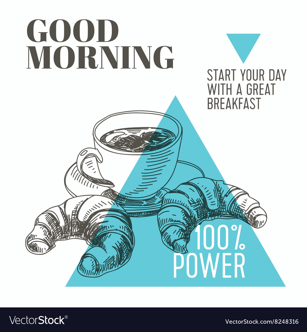 Background hand drawn breakfast