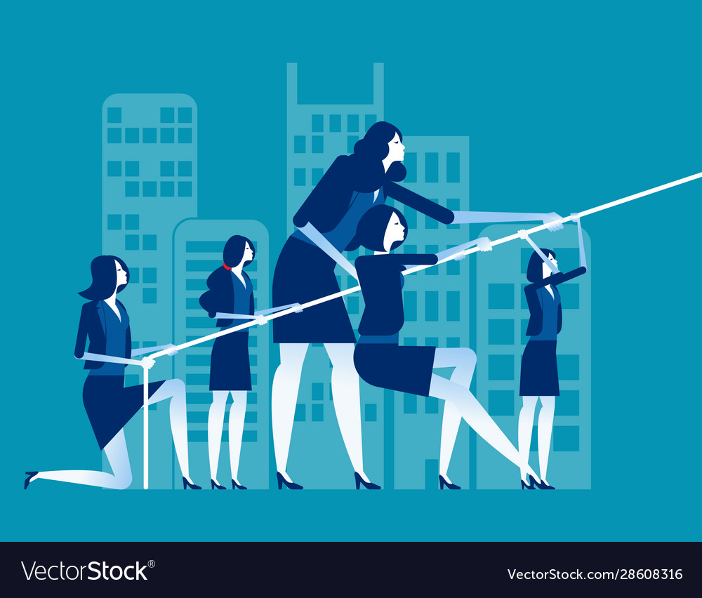 Business team pull ropes concept business