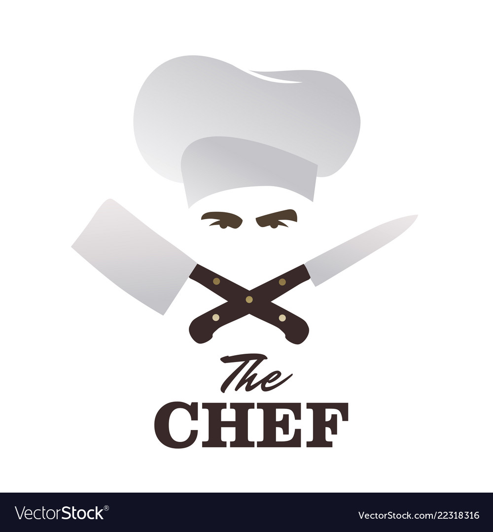 Chef and knives set good for logo