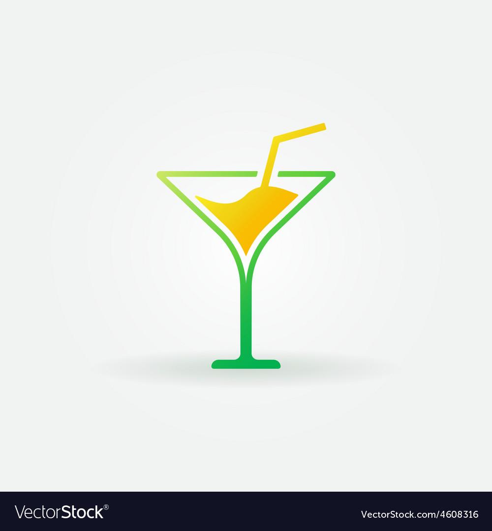 Martini bright icon or logo