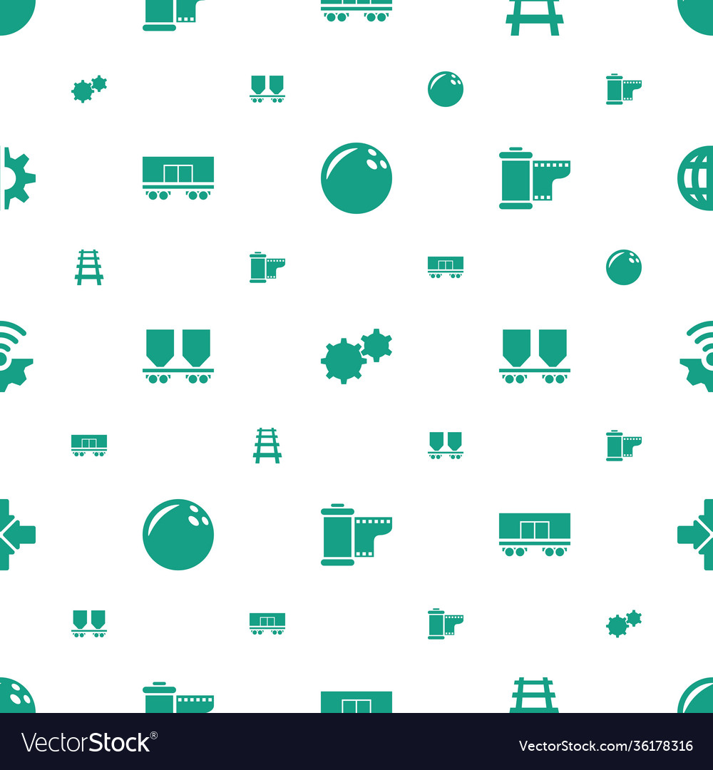 Motion icons pattern seamless white background