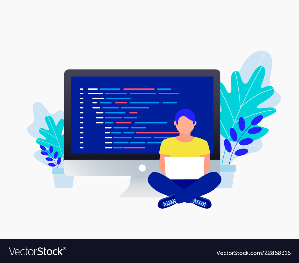 Programmer and coding concept