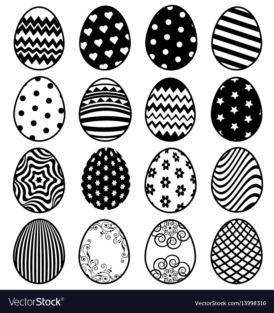 Set of eggs for easter day