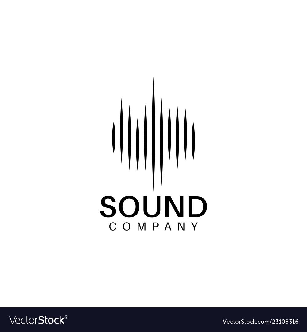 Sound wave logo design template