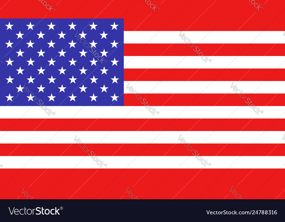 Usa flag icon in flat style america national sign