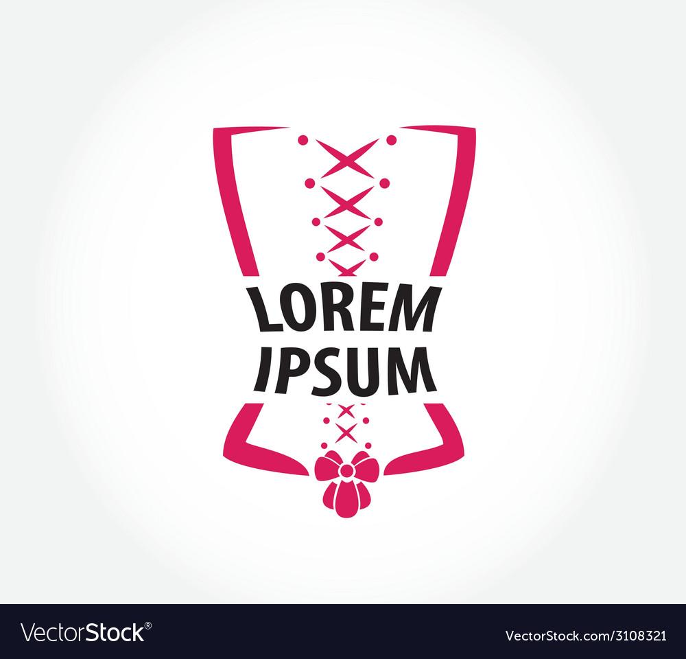 Corset logo design template