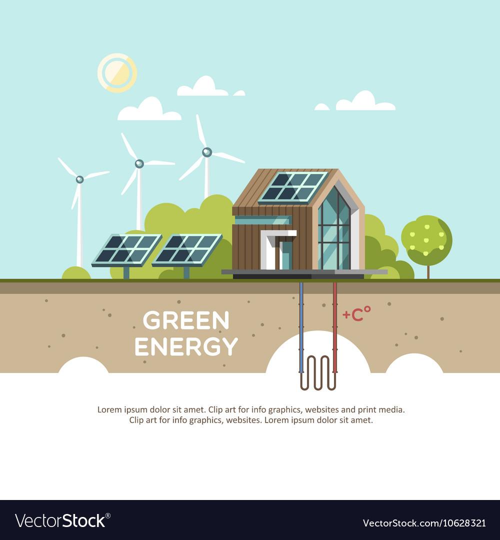 Green energy Eco friendly house