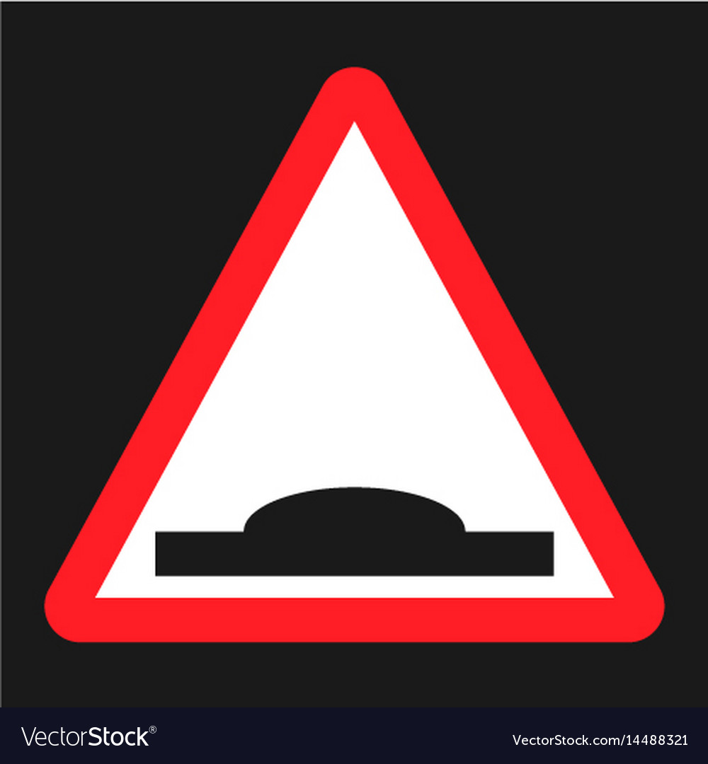 Hump sign flat icon vector image