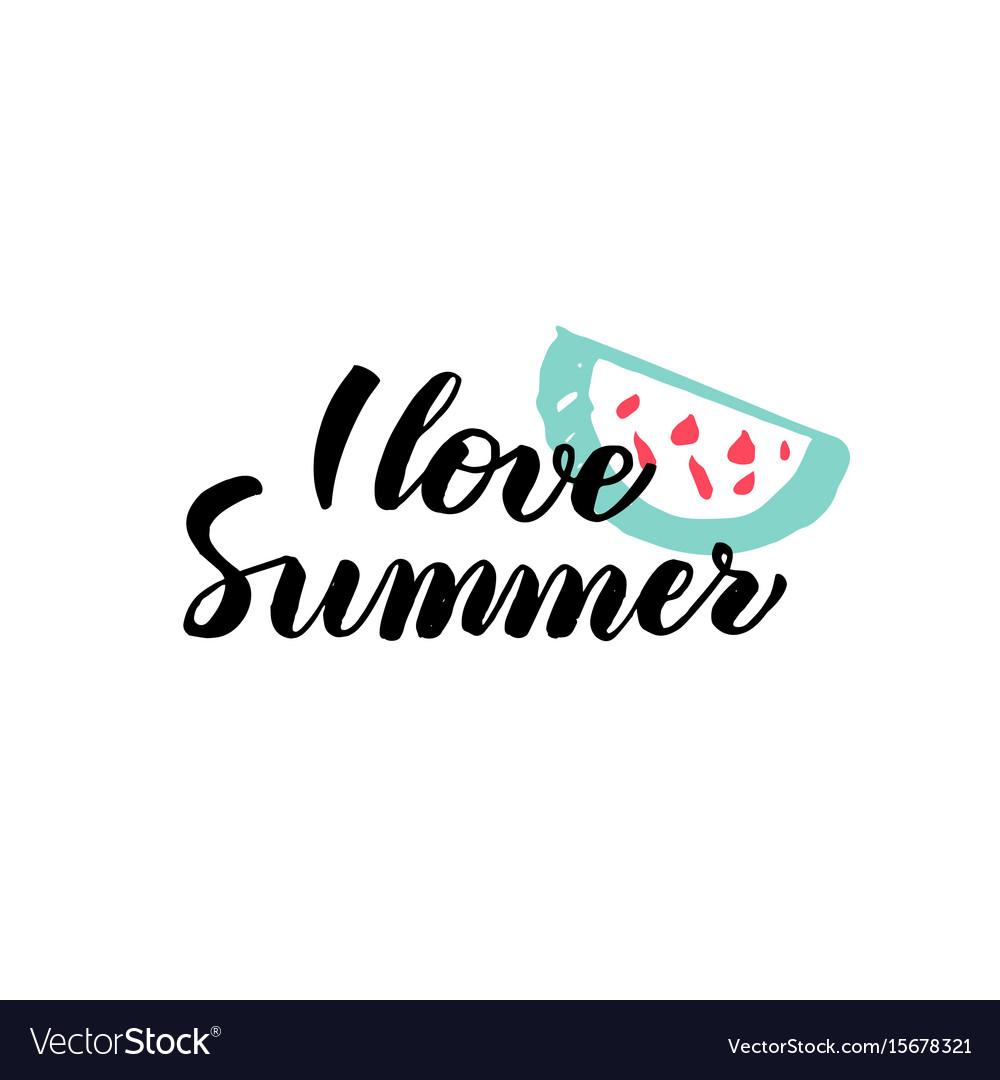 Love summer calligraphy