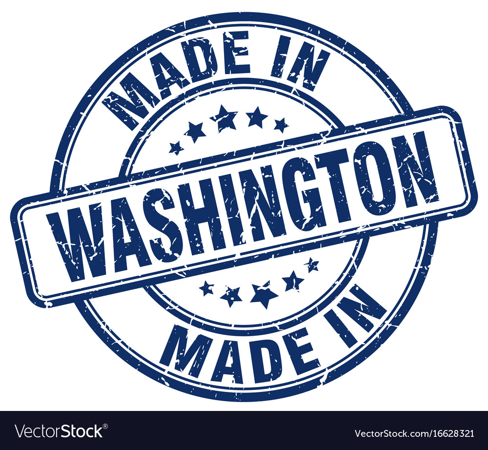 Made in washington vector image